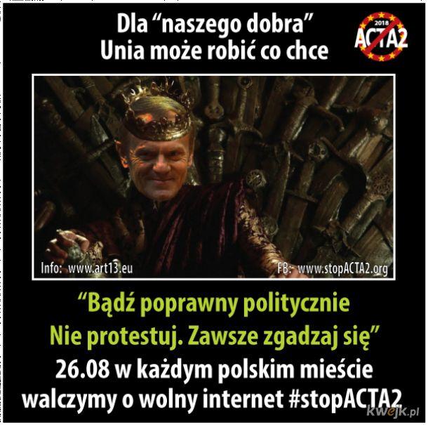#stopACTA2 - 26.08 przyjdź na protest w swoim mieście.