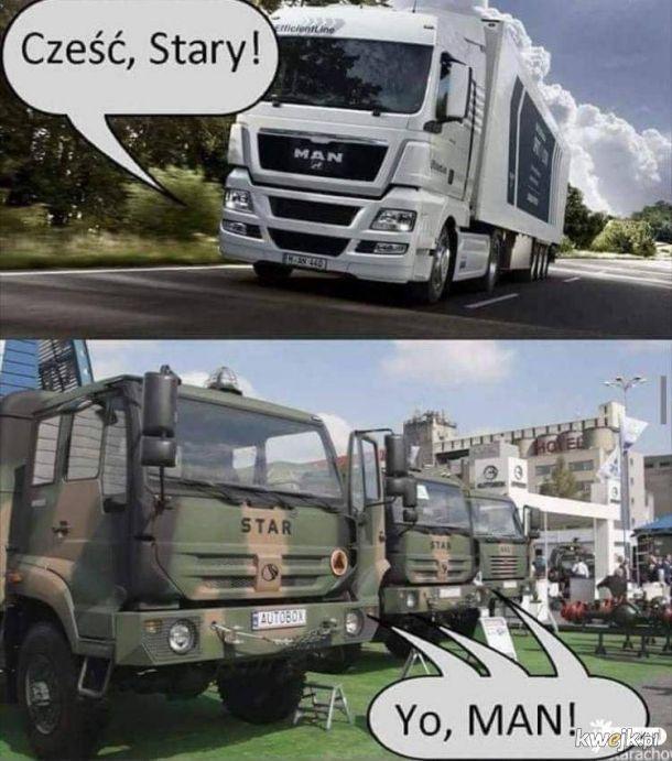 Powitanie ciężarówek