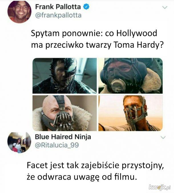 Tom Hardy zawsze w masce