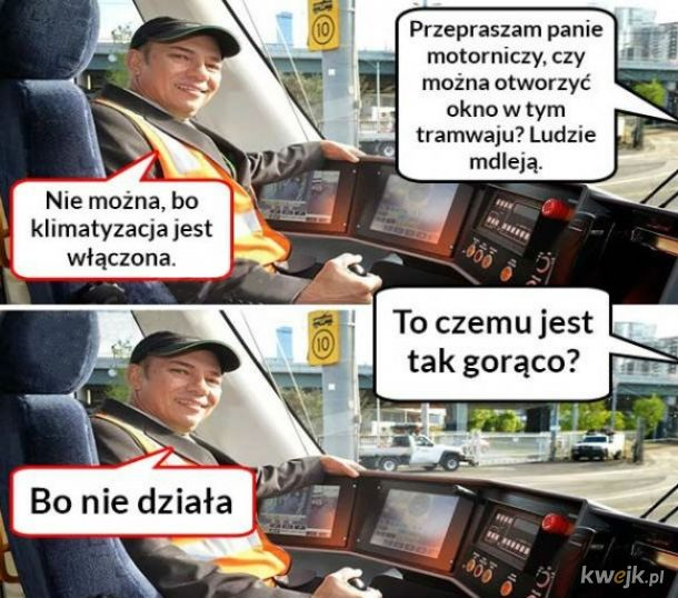Typowa sytuacja w komunikacji miejskiej