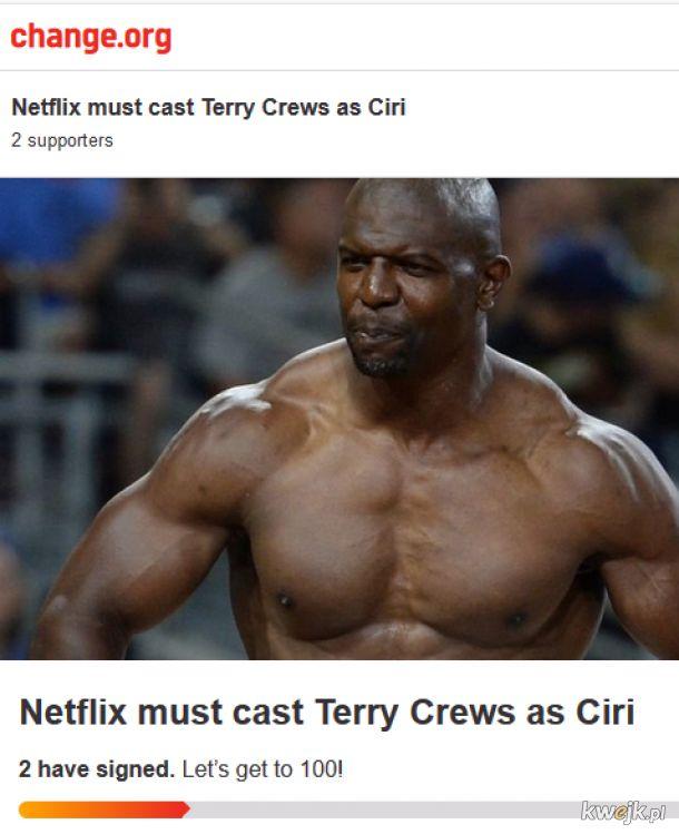 Głusujcie na Terry Crewsa jako angaż na Ciri!