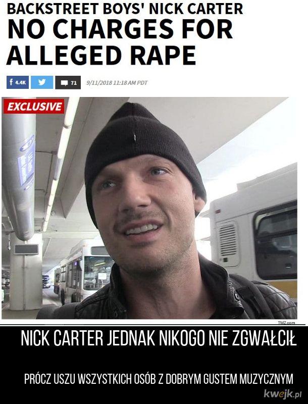 Nick Carter niewinny!