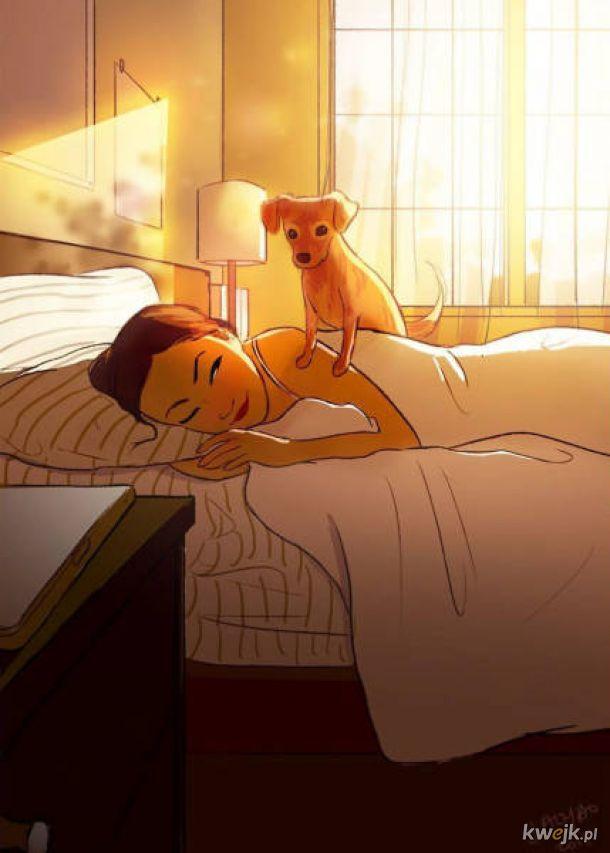 Ilustratorka Yaoyaomva w uroczy sposób pokazuje życie z psem