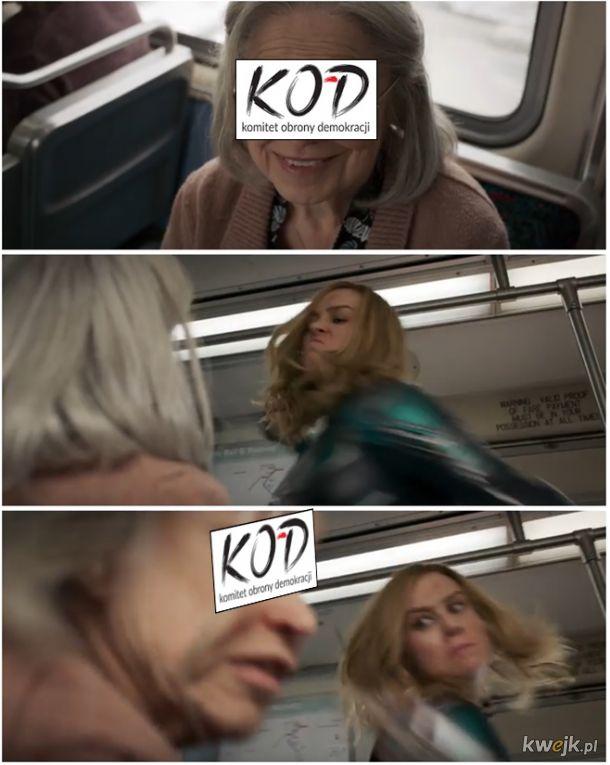 Kapitan Marvel , wymierzanie sprawiedliwości