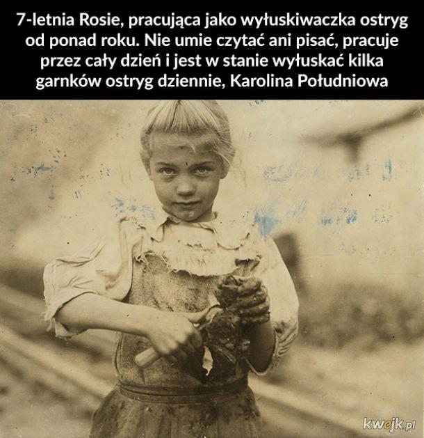 Zdjęcia z początku XX wieku przedstawiające pracujące dzieci