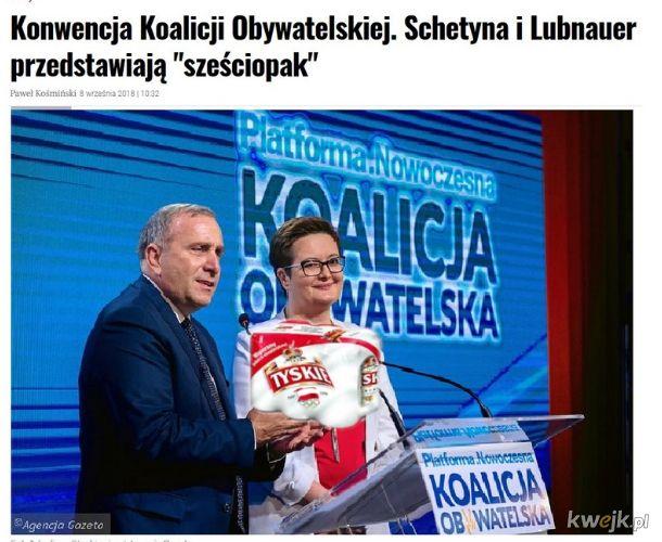 Koalicja Obywatelska przedstawia sześciopak!