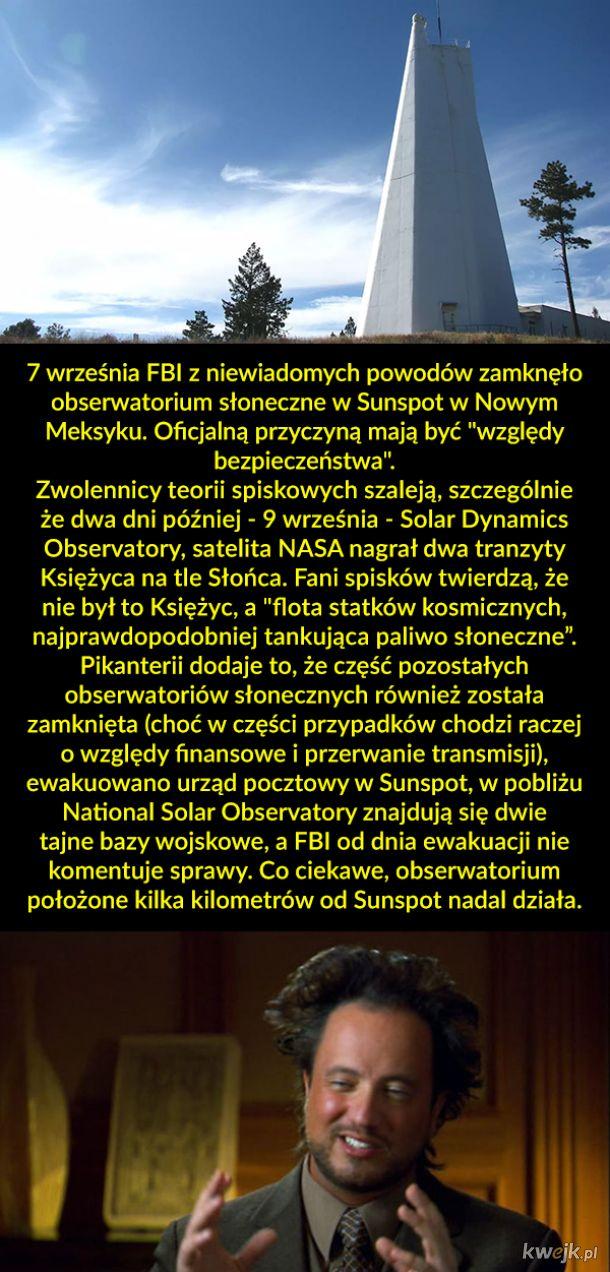 Ewakuacja obserwatorium słonecznego