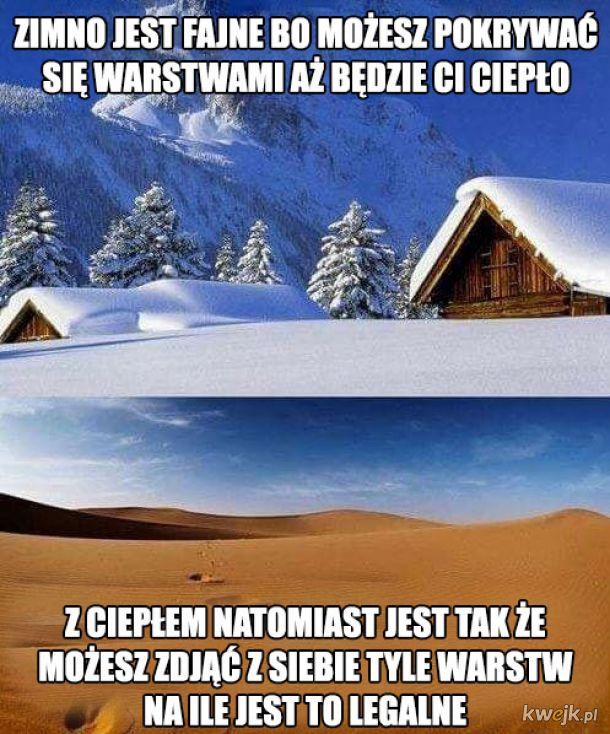 Różnica między zimnem a ciepłem