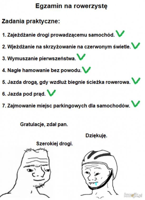 Egzamin na rowerzystę
