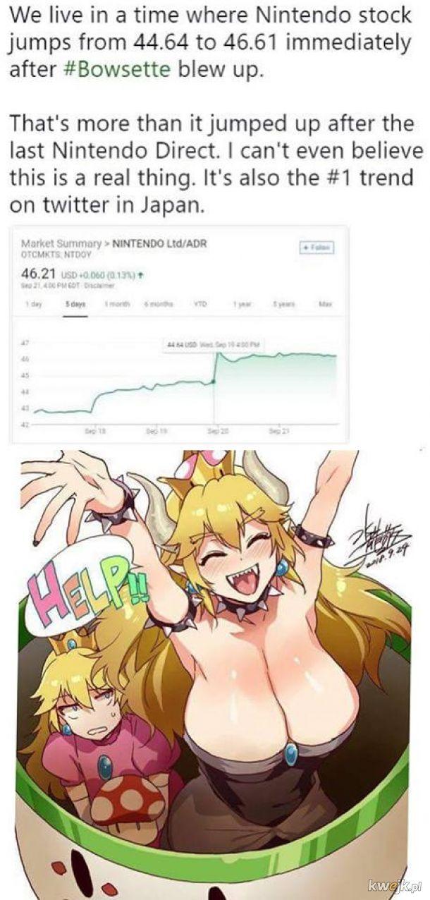 Kiedy mem powoduje wzrost wartosci Nintendo na rynku.