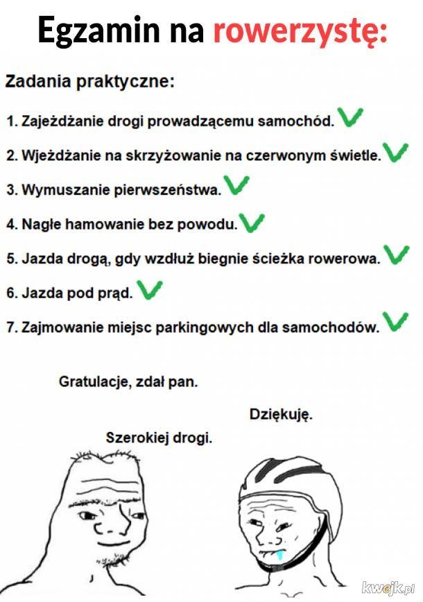 Egzamin na rowerzyste