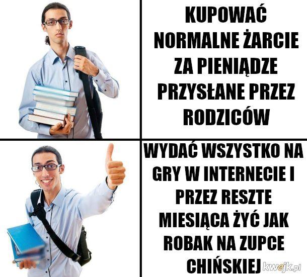 studencik w akademiku