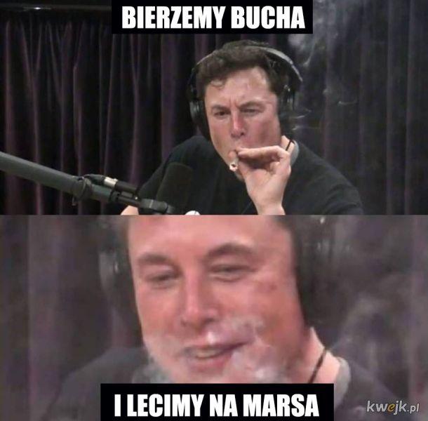 Elon odleciał