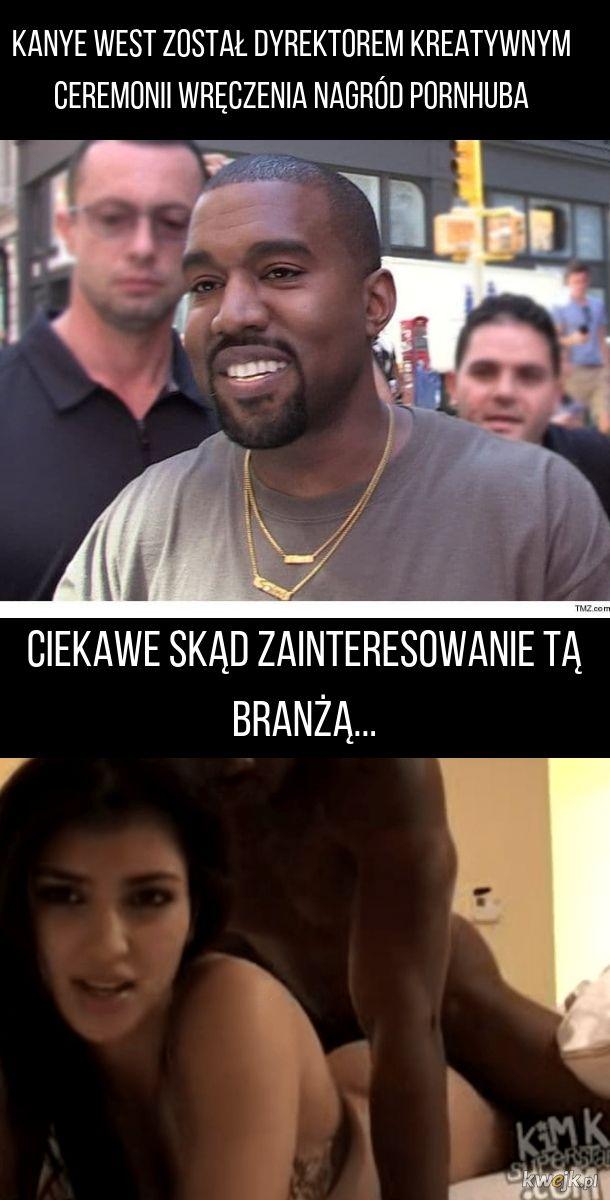Kanye inspiruje się żoną