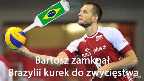 Bartosz zamyka kurek do zwycięstwa Brazylii