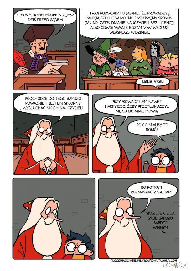 Dumbledor to śmieszek