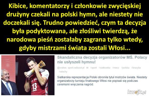 Polscy siatkarze nie usłyszeli hymnu po zwycięstwie