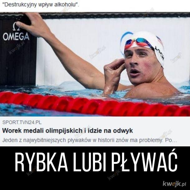 Rybka lubi pływać