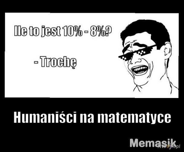 Humaniści na matematyce