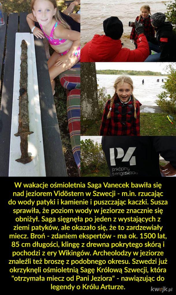 Nowa królowa Szwecji i miecz Wikingów