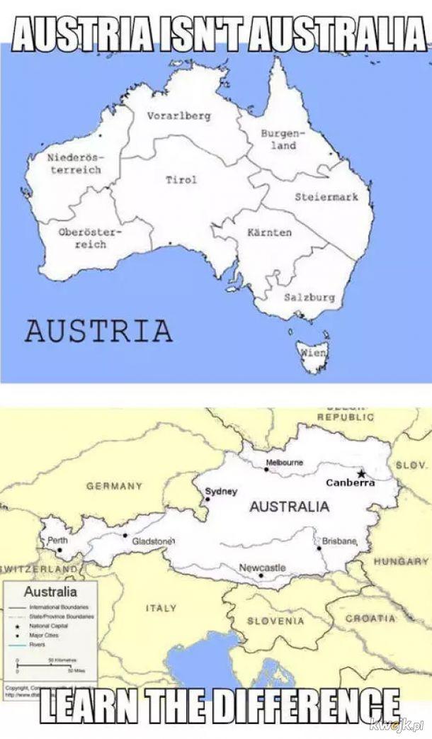 I zapamięaj raz na zawsze, gdzie jest Austria a gdzie Australia!