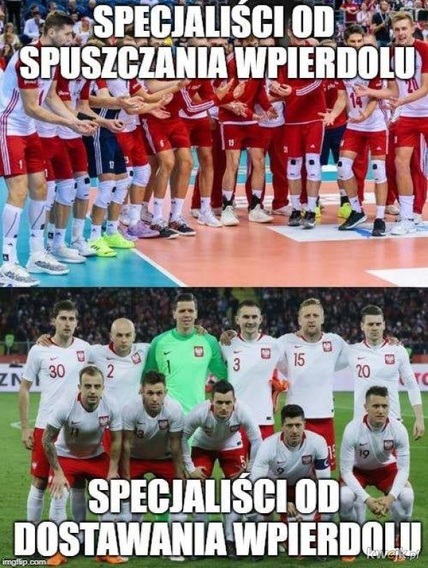 Siatkarze vs. piłkarze