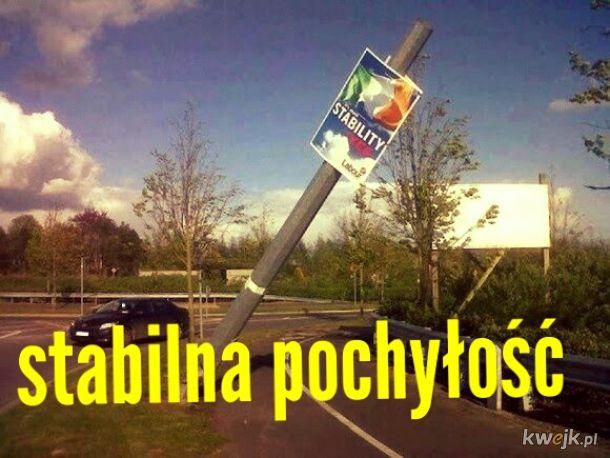 Wybory w Irlandii. Stabilny wybór stabilnego słupa!