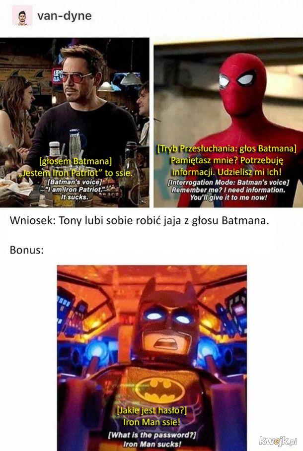 Tony Stark lubi nabijać się z Batmana
