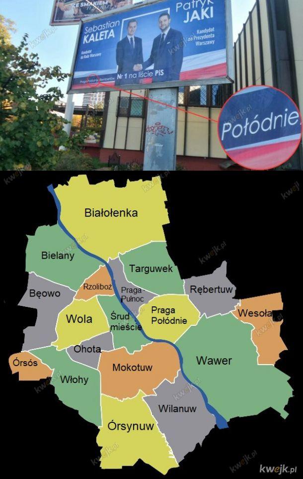 Dzielnice Warszawy zmieniają nazwy