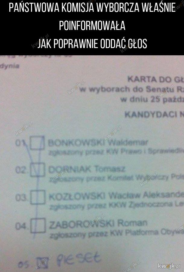 Moja karta z zeszłych wyborów. W tym roku zagłosuję na tego samego kandydata