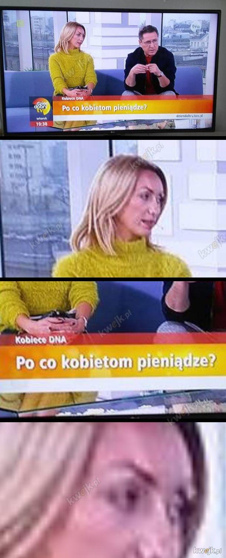 Żadna praca nie hańbi... chyba, że prowadzisz durny program w TVN