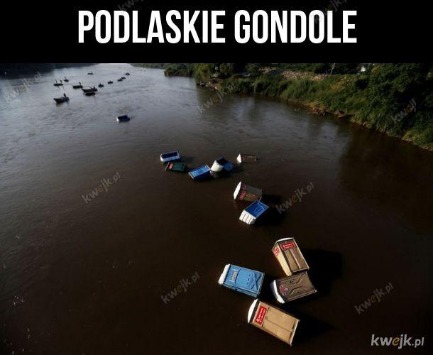 Gondole na Podlasiu