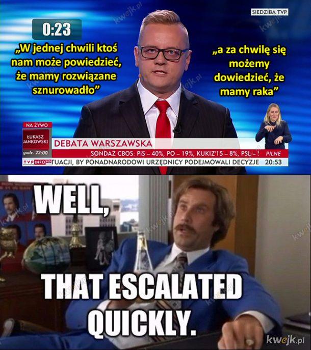 Memy po debacie kandydatów na prezydenta Warszawy