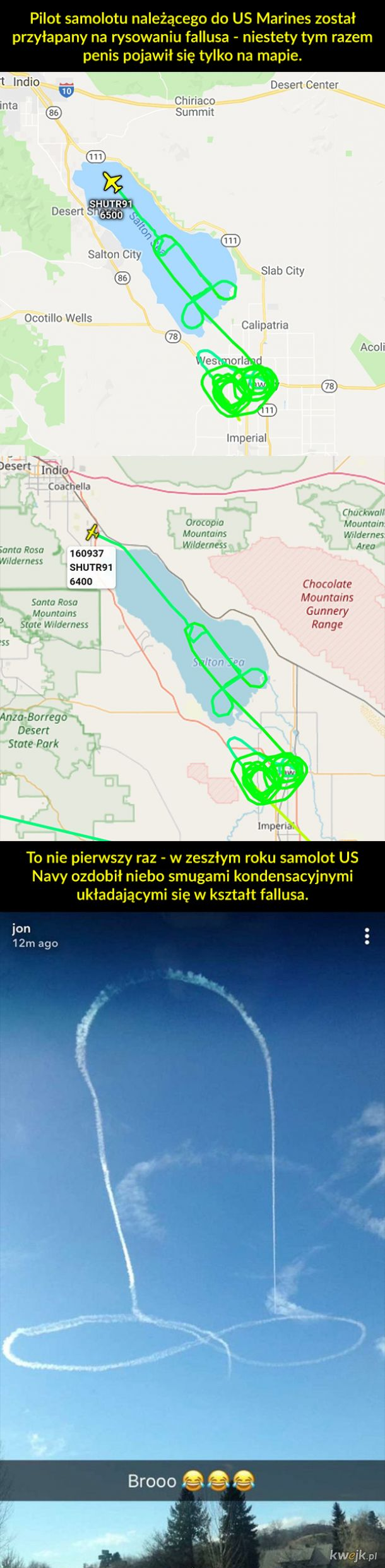 Zabawy amerykańskich pilotów