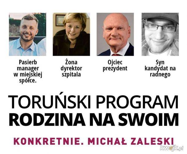 Michał Zaleski umie ustawić rodzinkę