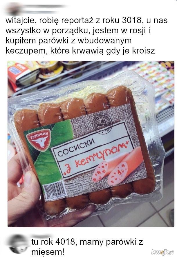 parówki z keczupem