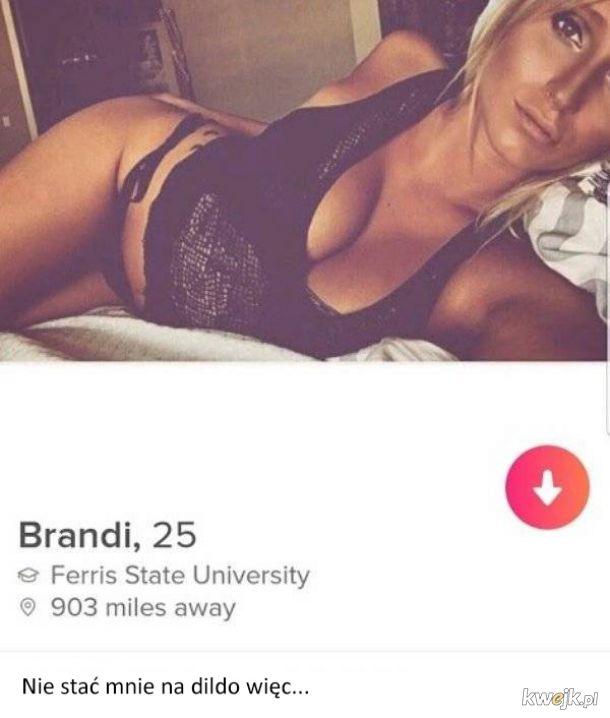 Niektóre opisy na Tinderze są aż nazbyt szczere