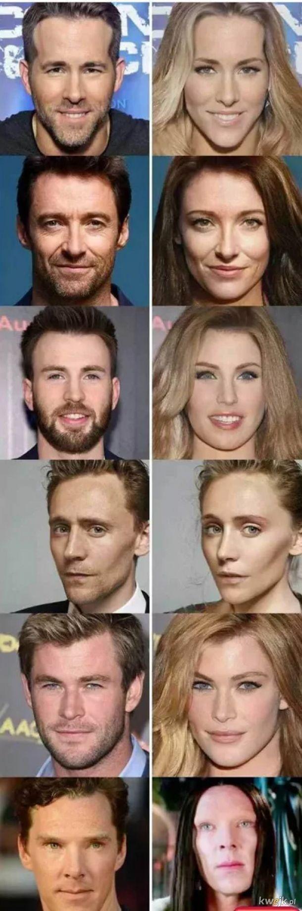 Aktorzy przerobieni na aktorki