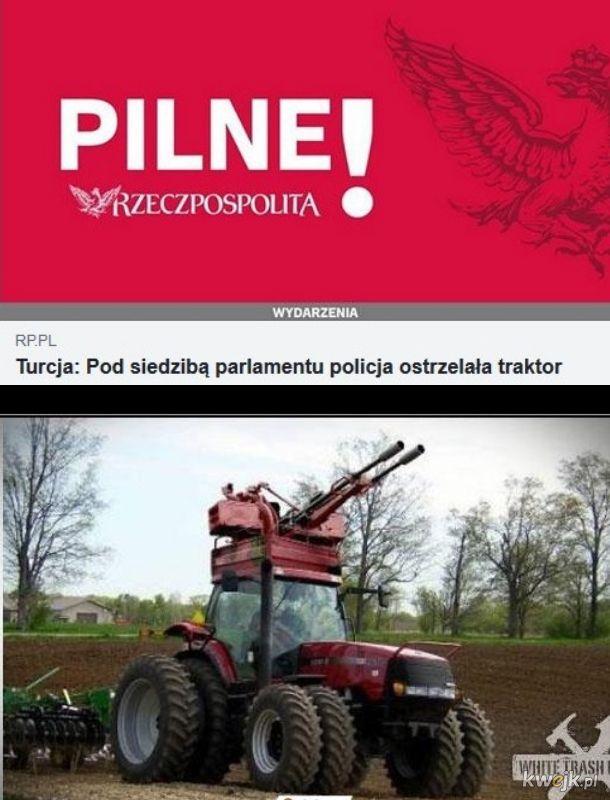 Agresywny traktor bojowy