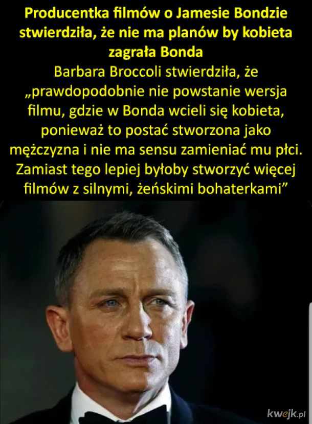 Bond nie będzie kobietą