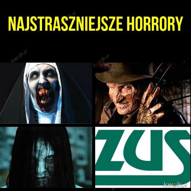 Najstraszniejsze horrory