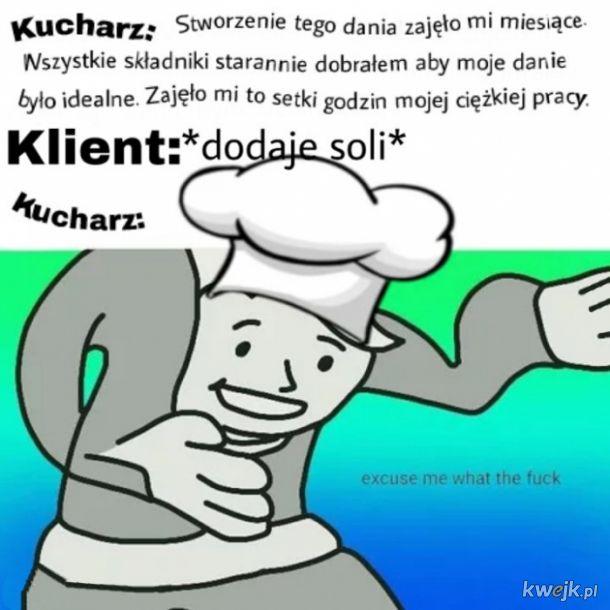 Zbulwersowany kucharz