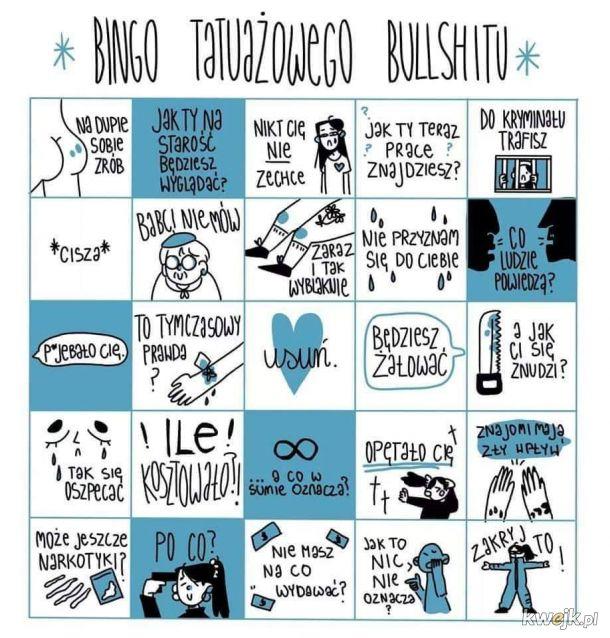 Tatuażowe bingo
