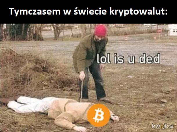 Aktualna cena bitcoina to smutny żart