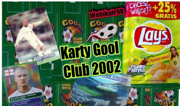 Karty Gool ⚽ Club 2002 z Laysów Kto zbierał?