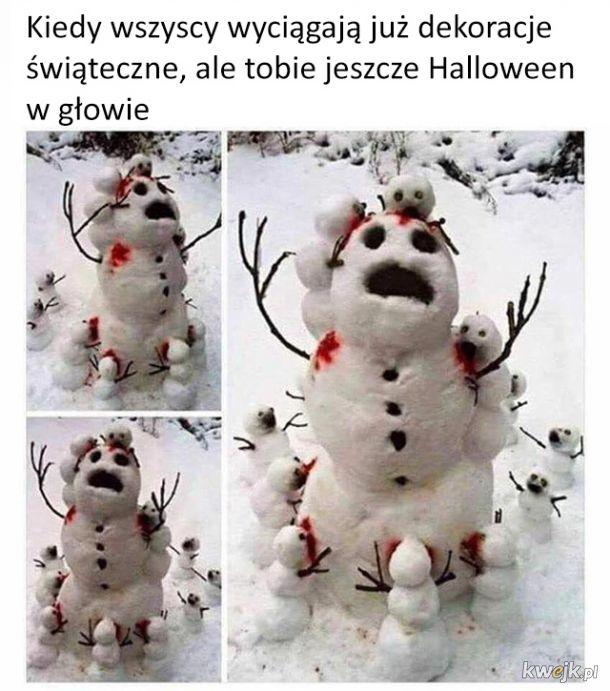 Halloweenowy bałwanek