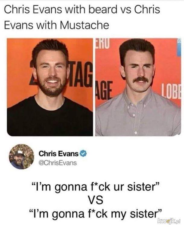 Chris Evans śmieszkuje