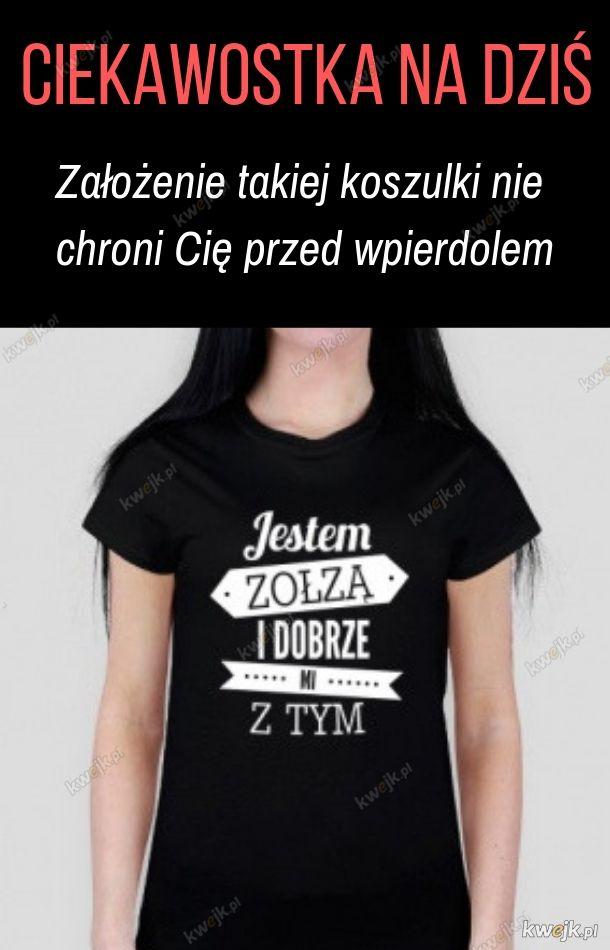 Koszulka to nie zbroja. Po prostu bądź miła