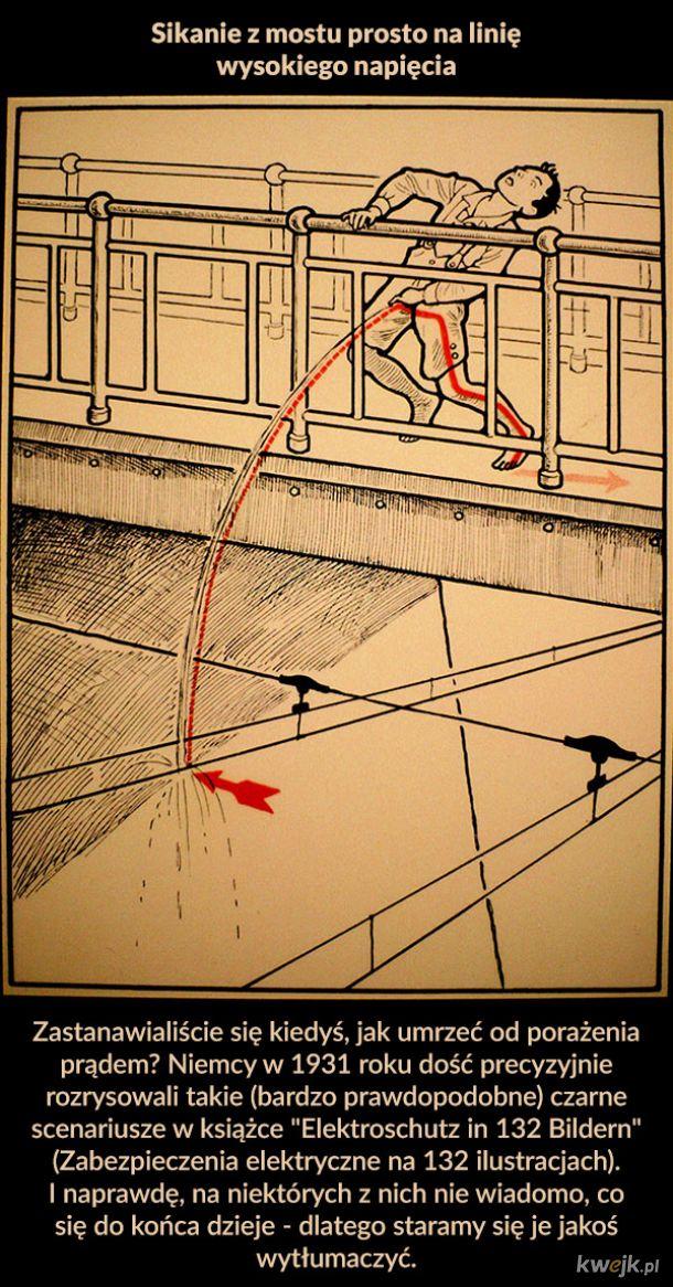 Bardzo prawdopodobne sposoby na śmierć od porażenia prądem z 1931 roku