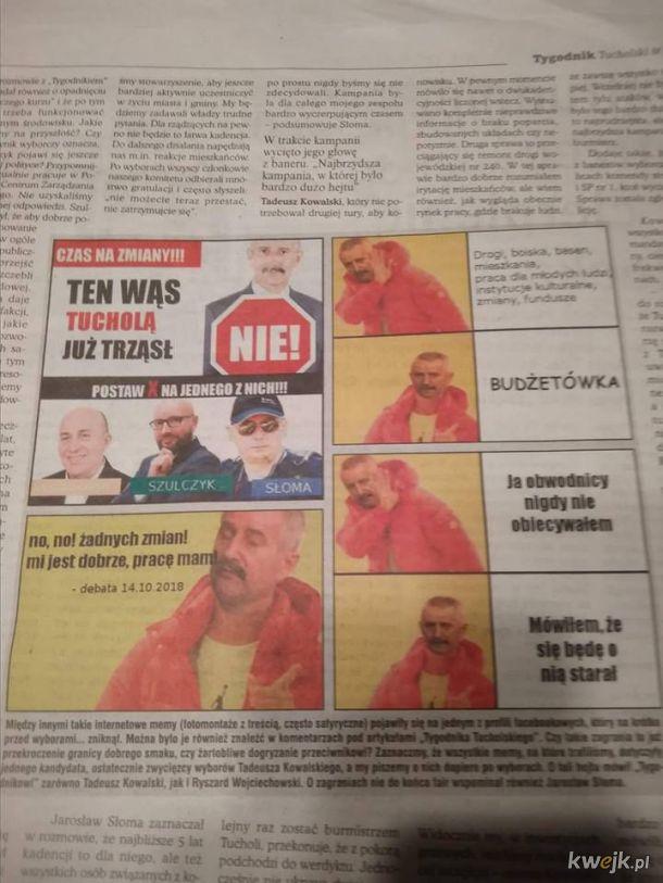 Tygodnik Tucholski i lokalne memes